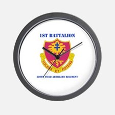 DUI - 1st Bn - 320th FA Regt with Text Wall Clock