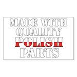 Quality Polish Parts Sticker (Rectangle)