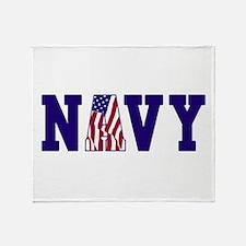 Cute Military navy Throw Blanket