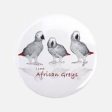 "african grey parrots 3.5"" Button"
