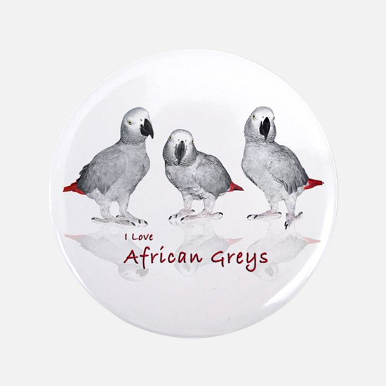 "african grey parrots 3.5"" Button"
