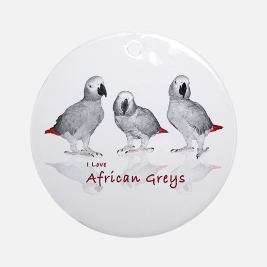 african grey parrots Ornament (Round)