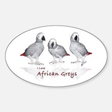 african grey parrots Decal