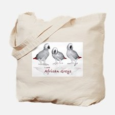african grey parrots Tote Bag