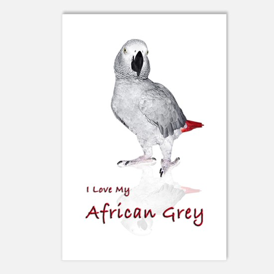 i love african greys Postcards (Package of 8)