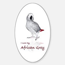 i love african greys Sticker (Oval)