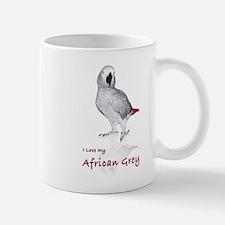 i love african greys Small Small Mug