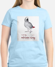 i love african greys T-Shirt