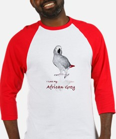 i love african greys Baseball Jersey