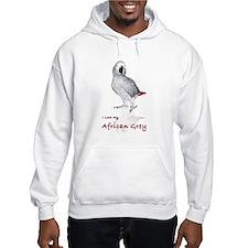 i love african greys Hoodie