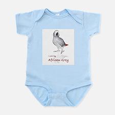 i love african greys Infant Bodysuit