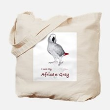 i love african greys Tote Bag