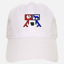 Red Vs Blue? Baseball Baseball Cap