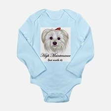 Captioned Maltese Long Sleeve Infant Bodysuit