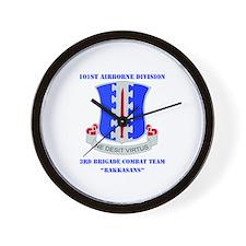 DUI - 3rd BCT - Rakkasans with Text Wall Clock