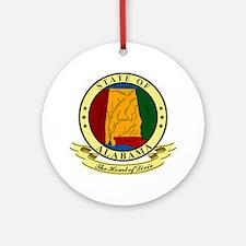 Alabama Seal Ornament (Round)