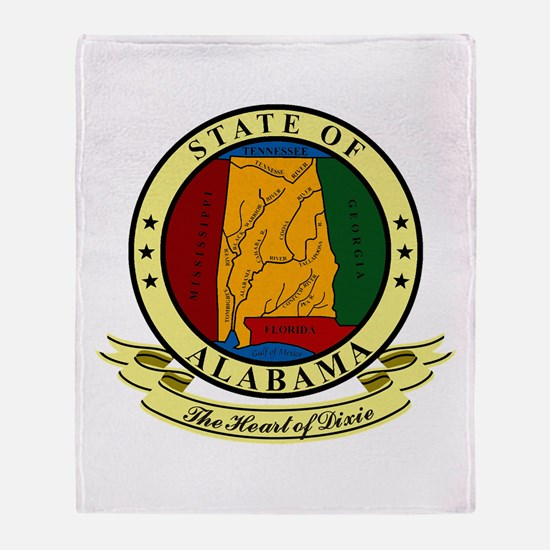 Alabama Seal Throw Blanket
