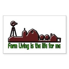 Farm Living is The Life Decal
