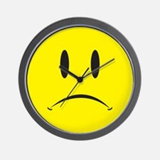 Unhappy Face Wall Clock