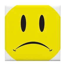 Unhappy Face Tile Coaster