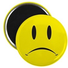 Unhappy Face Magnet
