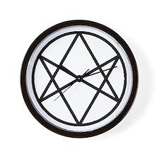 Unicursal Hexagram Wall Clock