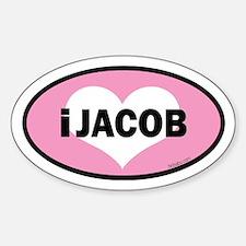 twibaby's i heart Jacob euro Decal