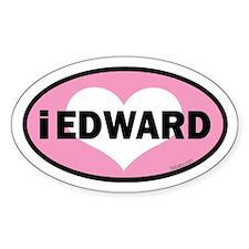 Twibaby's i heart Edward euro Decal