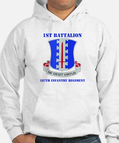 DUI - 1st Bn - 187th Infantry Regt with Text Hoode