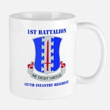 DUI - 1st Bn - 187th Infantry Regt with Text Mug