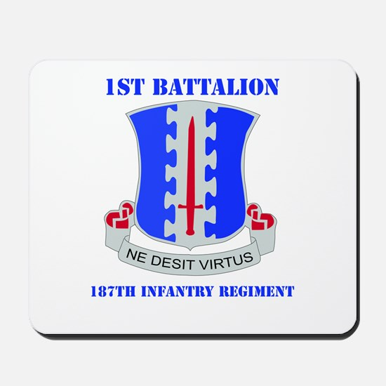 DUI - 1st Bn - 187th Infantry Regt with Text Mouse
