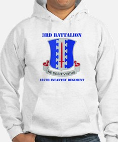 DUI - 3rd Bn - 187th Infantry Regt with Text Hoode
