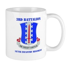 DUI - 3rd Bn - 187th Infantry Regt with Text Mug