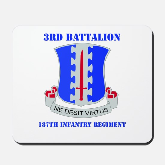 DUI - 3rd Bn - 187th Infantry Regt with Text Mouse
