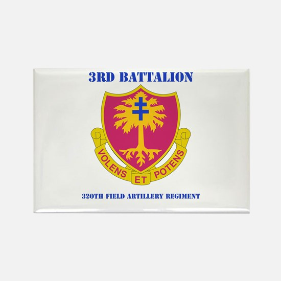 DUI - 3rd Bn - 320th FA Regt with Text Rectangle M