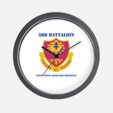 DUI - 3rd Bn - 320th FA Regt with Text Wall Clock
