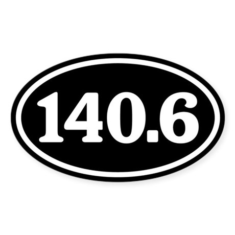 140.6 Triathlon Oval Sticker (Oval)
