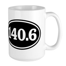 140.6 Triathlon Oval Mug