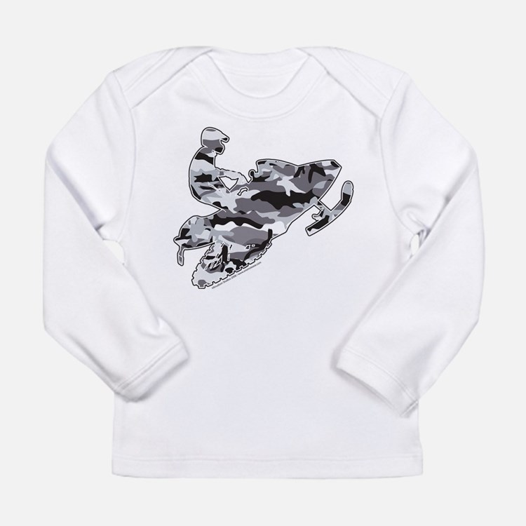 Camoflage Grey Sledders Long Sleeve Infant T-Shirt