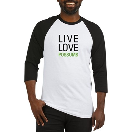 Live Love Possums Baseball Jersey