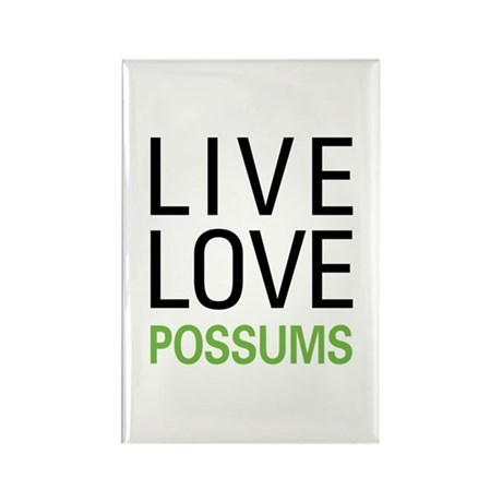 Live Love Possums Rectangle Magnet (100 pack)