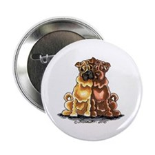 """Chinese Shar Pei Lover 2.25"""" Button"""