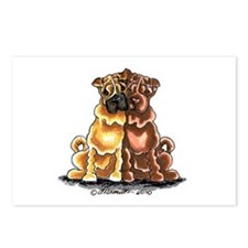Chinese Shar Pei Lover Postcards (Package of 8)