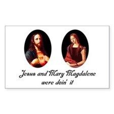 Jesus and Mary Magdalene Were Sticker (Rectangular