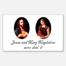 Jesus and Mary Magdalene Were Sticker (Rectangular