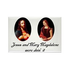 Jesus and Mary Magdalene Were Rectangle Magnet