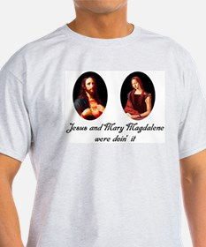 Jesus and Mary Magdalene Were Ash Grey T-Shirt