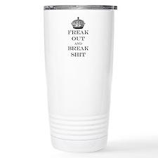Cute Keep calm and freak out Travel Mug