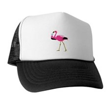Pink Flamingo Drinking A Martini Trucker Hat