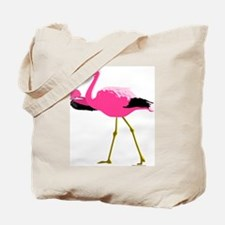 Pink Flamingo Drinking A Martini Tote Bag